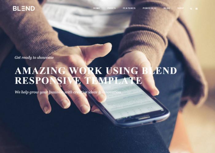Blend – Premium Responisve MultiPurpose HTML5 Template
