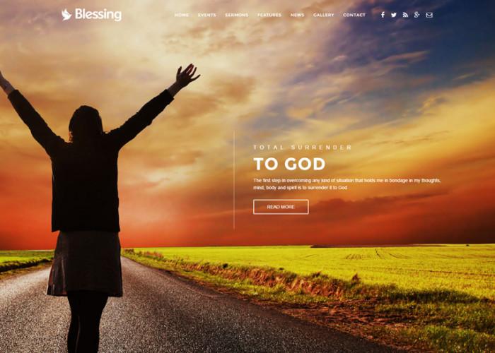 Blessing – Premium Responsive Church Website HTML5 Template