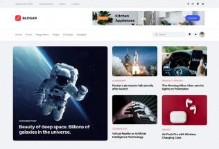 Blogar – Premium Responsive Blog Magazine HTML5 Template