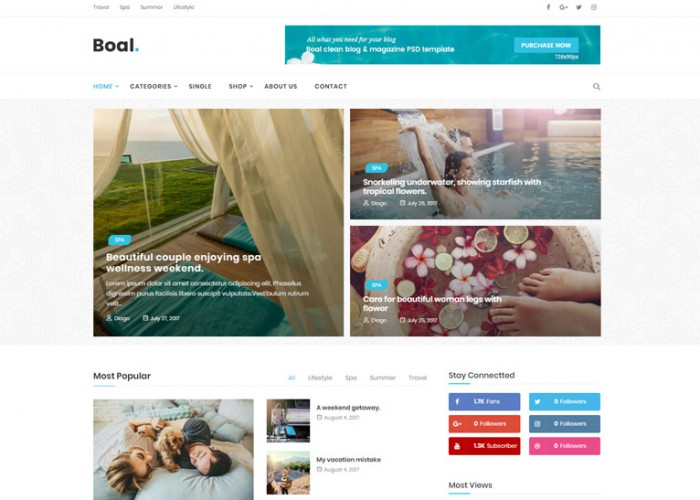 Boal – Premium Responisve Newspaper Magazine News WordPress Theme