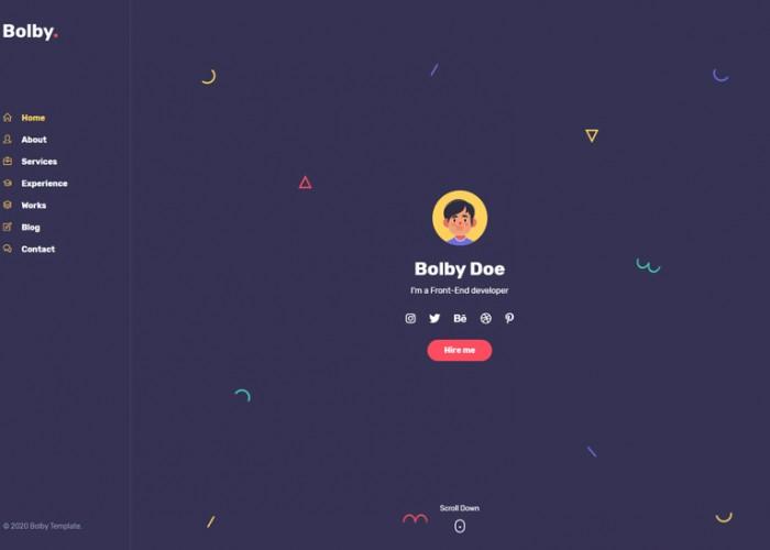Bolby – Premium Responsive Portfolio/CV/Resume HTML5 Template