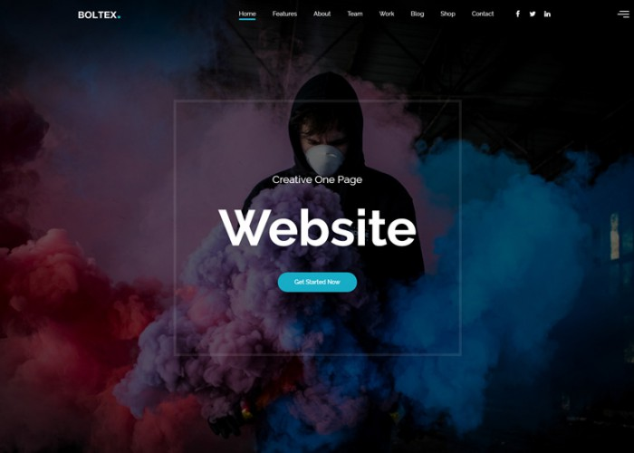 Boltex – Premium Responsive One Page Parallax HTML5 Template