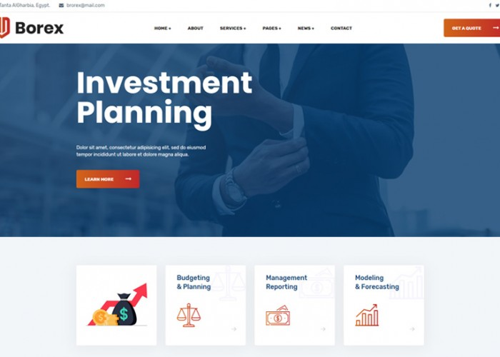 Borex – Premium Responsive Business Consulting Drupal 9 Theme