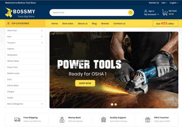 Bossmy – Premium Responsive Tools Store Prestashop Themes