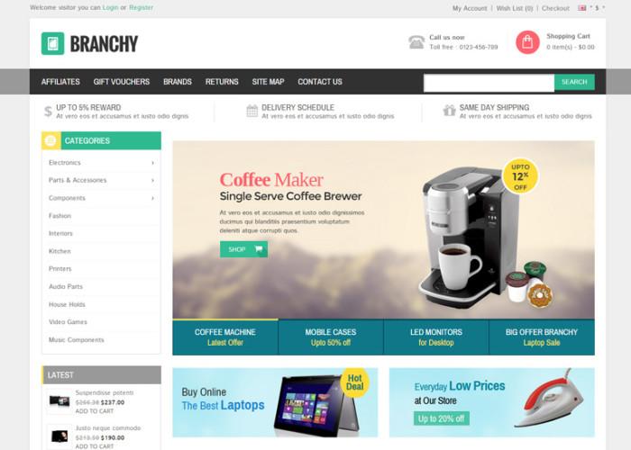 Branchy – Premium Responsive Opencart Theme