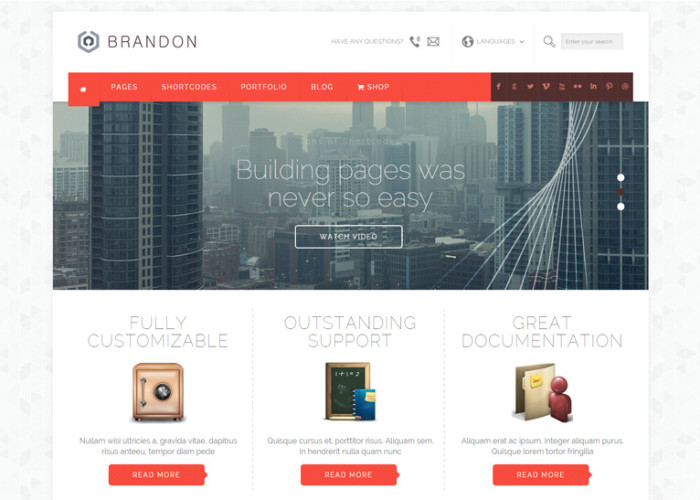 Brandon – Premium Responsive MultiPurpose HTML5 Template