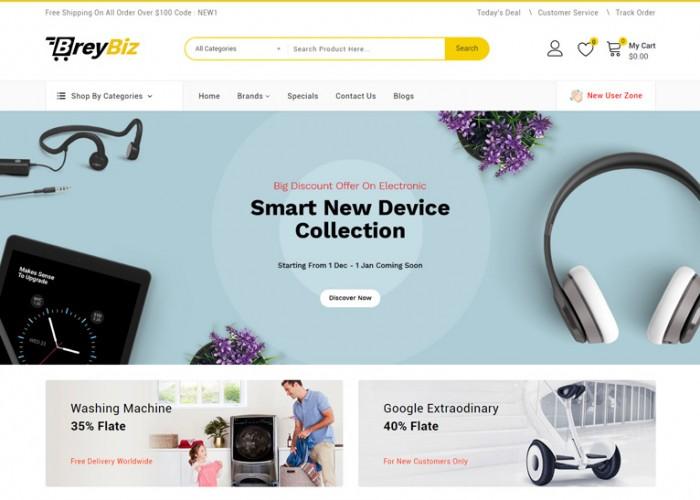 BreyBiz – Premium Responsive Multipurpose OpenCart 3 Theme