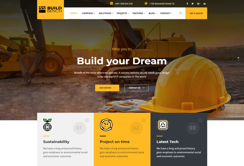 Buildbench - Premium Responsive Construction HTML5 Template