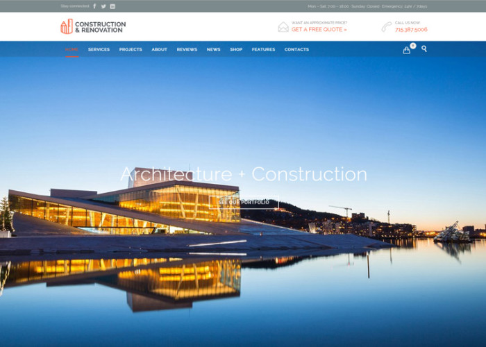 Builder Construction – Premium Responsive Architect Renovation WordPress Theme