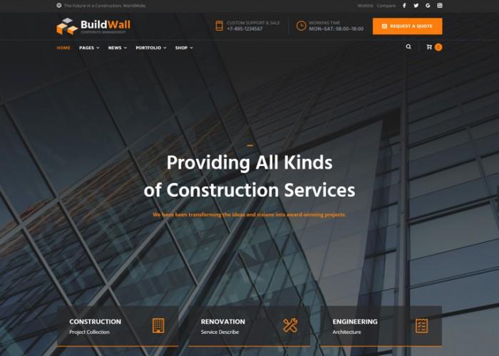 BuildWall – Premium Responsive Construction Company WordPress Theme