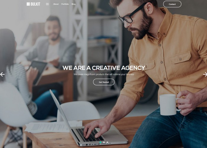 Bulkit – Premium Responsive Agency and SaaS HTML5 Template