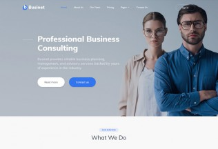 Businet – Premium Responsive Business Consulting HTML5 Template