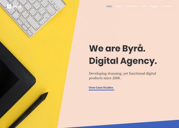 Byra – Premium Responsive Digital Agency WordPress Theme