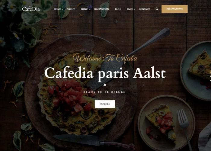 CafeDia – Premium Responsive Restaurant WordPress Theme