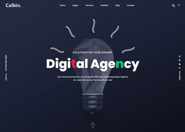 Calbin – Premium Responsive Creative Digital Agency HTML5 Template