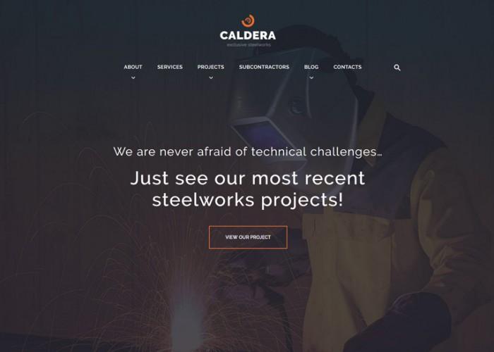 Caldera – Premium Responsive Steelworks and Constructions WordPress Theme