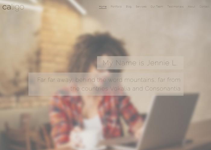 Caligo – Premium Responsive Portfolio / Resume & CV Bootstrap 4 HTML5 Template