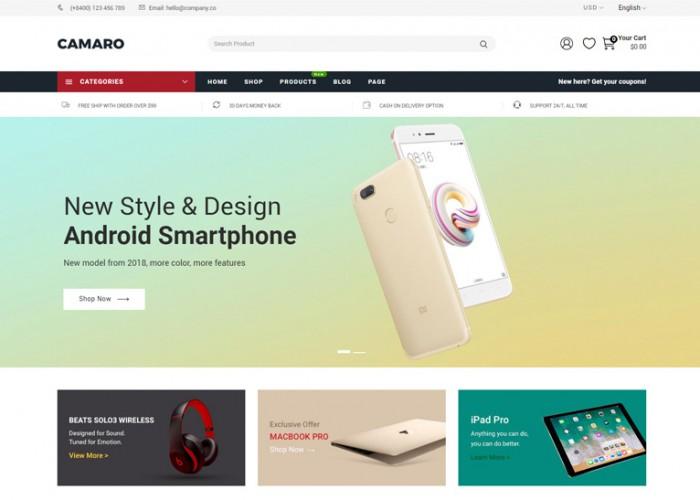 Camaro – Premium Responsive Super Market Minimalist Shopify Theme