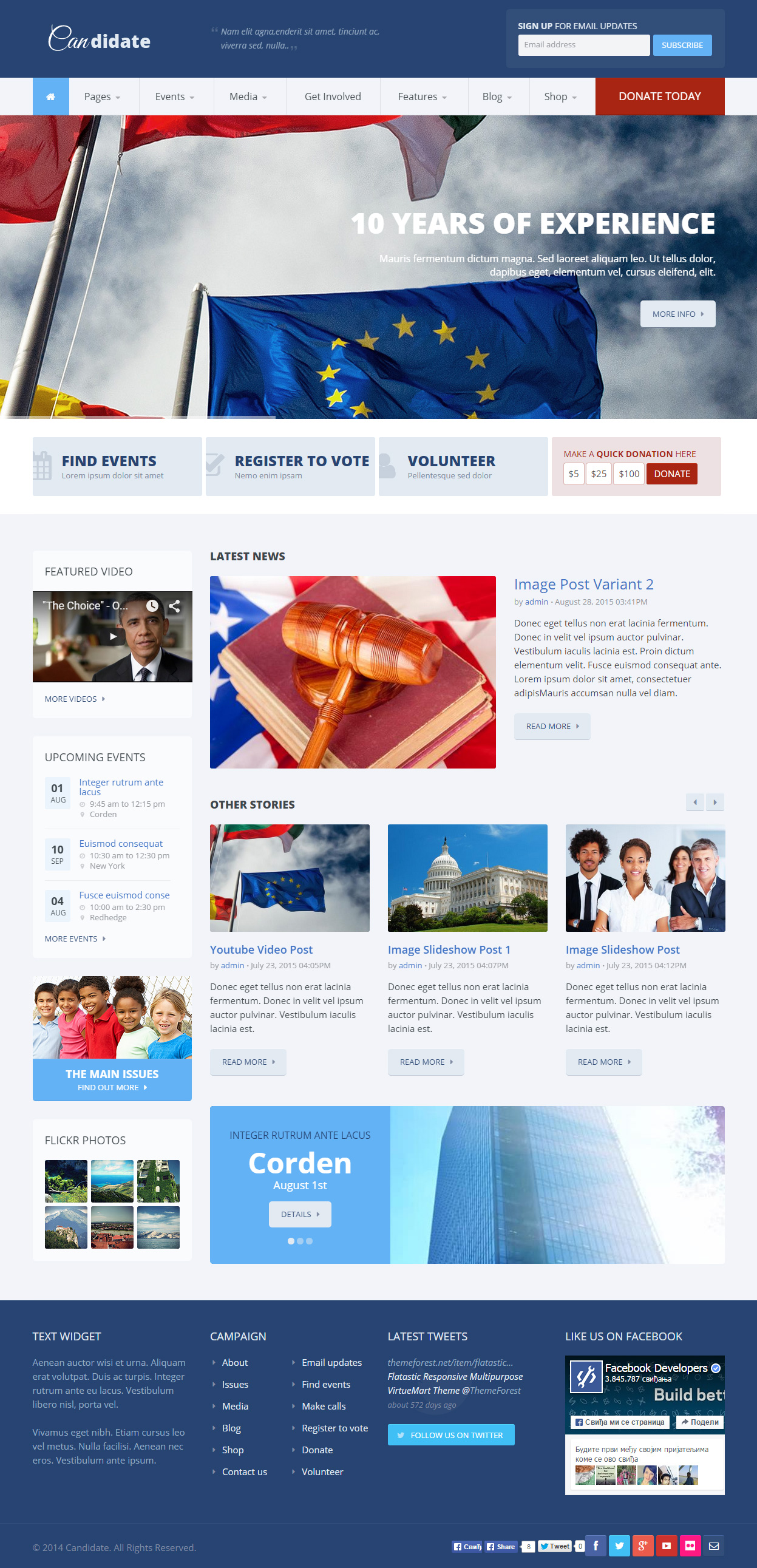 Best Responsive Political Drupal Themes 2015 Responsive Miracle