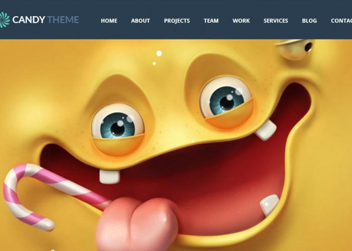 Candy – Premium Responsive Flat WordPress OnePage Theme