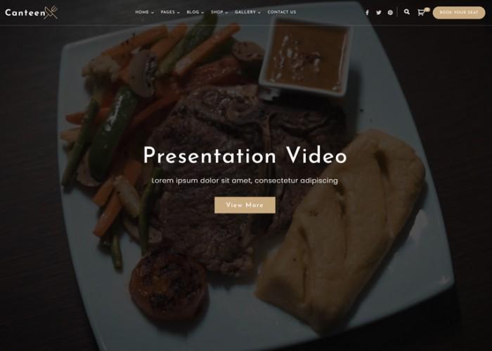 Canteen – Premium Responsive Restaurant WordPress Theme