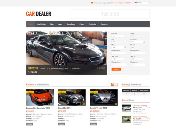 Car Dealer – Premium Responsive Auto Dealer WordPress Theme