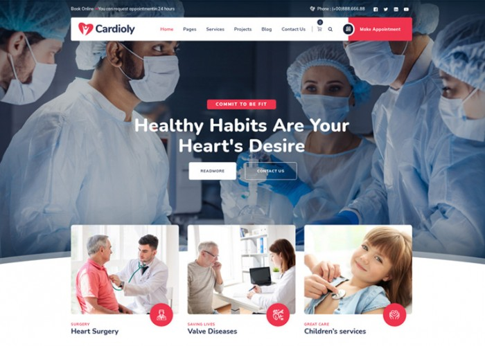 Cardioly – Premium Responsive Medical WordPress Theme