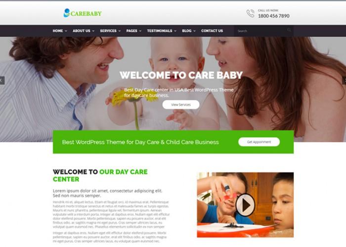 CareBaby – Premium Responsive Day Care & School WordPress Theme