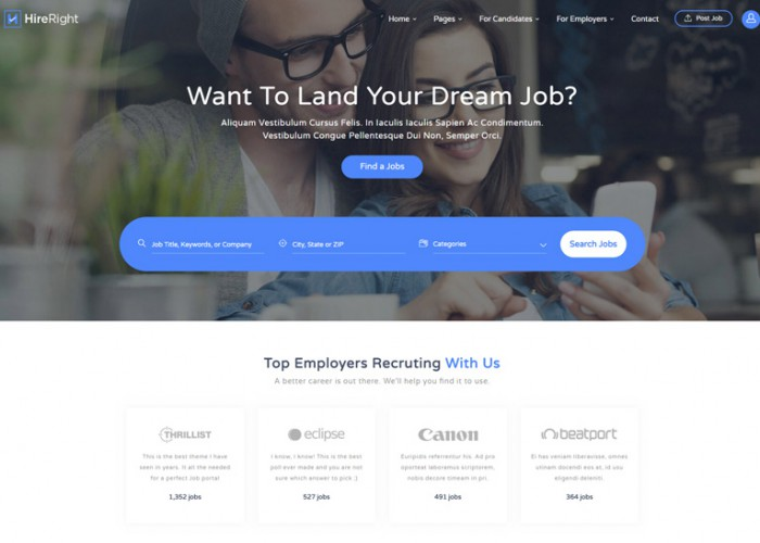 Careerfy – Premium Responsive Job Board HTML5 Template