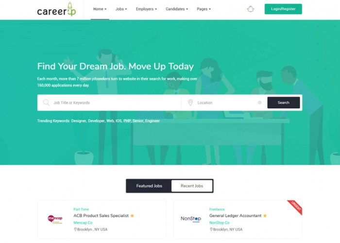 CareerUp – Premium Responsive Job Board WordPress Theme