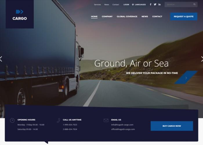 CargoFleet – Premium Responsive Cargo Transport HTML5 Template