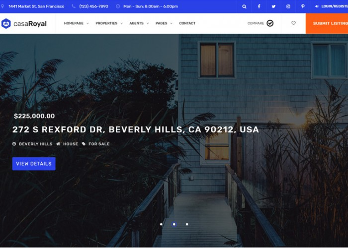 casaRoyal – Premium Responsive Real Estate WordPress Theme