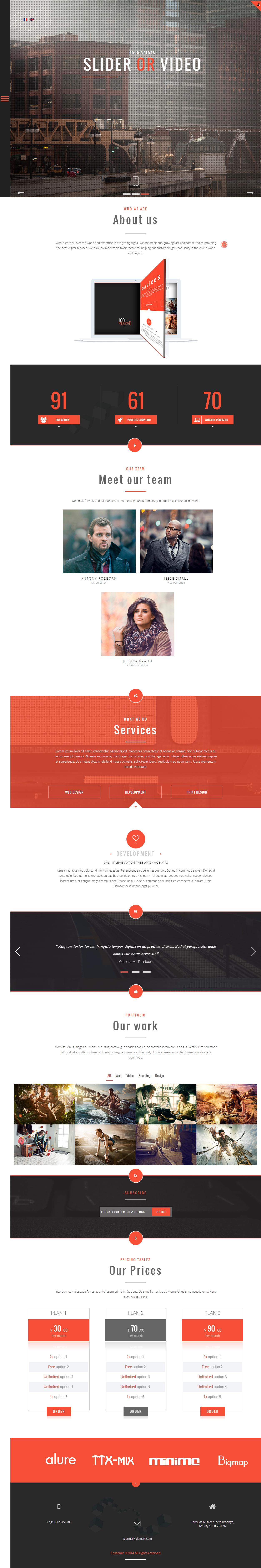 15 Best One Page Joomla Template 2017 Responsive Miracle