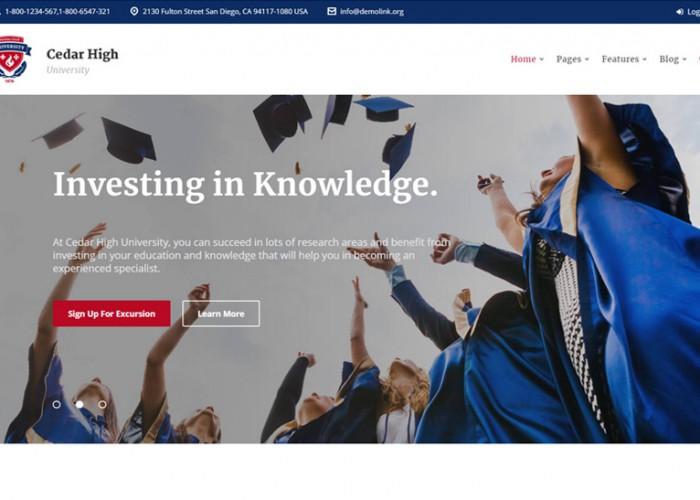 Cedar High – Premium Responsive University WordPress Theme