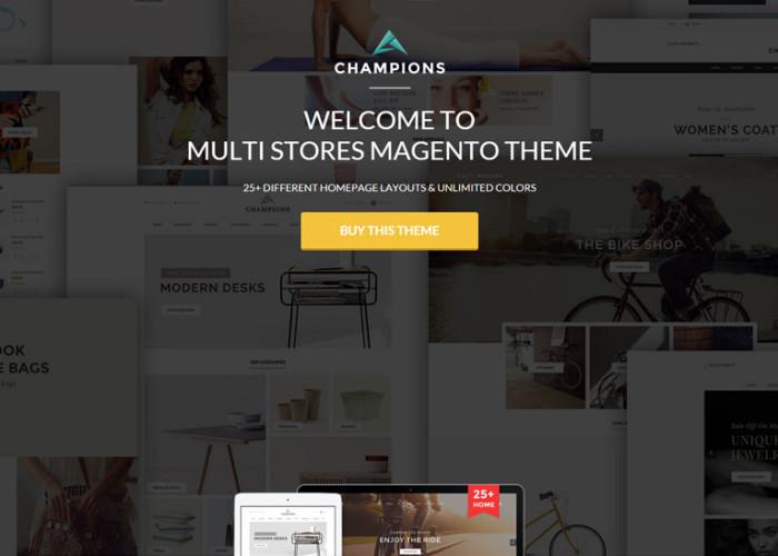 Champions – Premium Responsive Creative Multi-Purpose Magento Themes