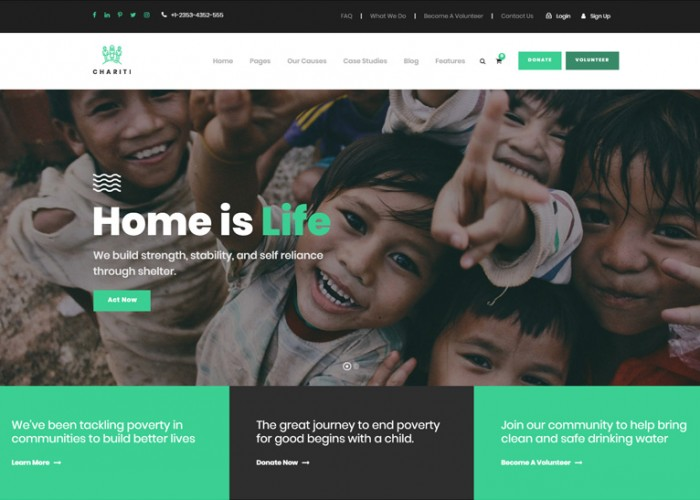 Chariti – Premium Responsive Charity & Donation WordPress Theme