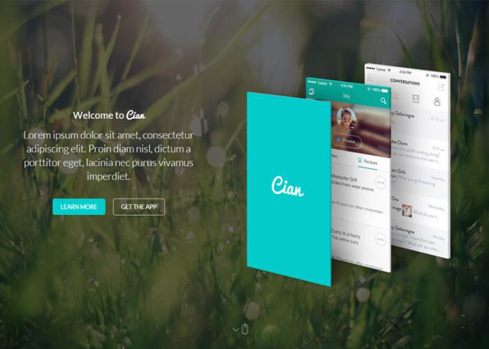 Cian – Premium Responsive App Landing Page WordPress Theme