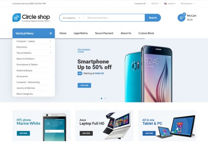 CircleShop – Premium Responsive Digital Prestashop Theme