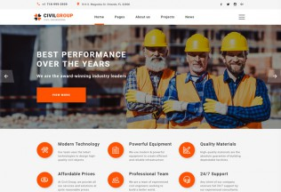 Civil Group – Premium Responsive Construction Company HTML5 Template