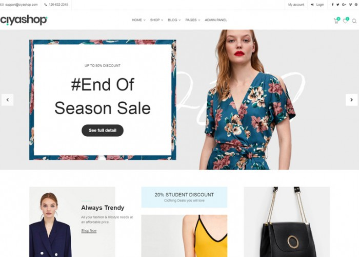 CiyaShop – Premium Responsive eCommerce React HTML5 Template