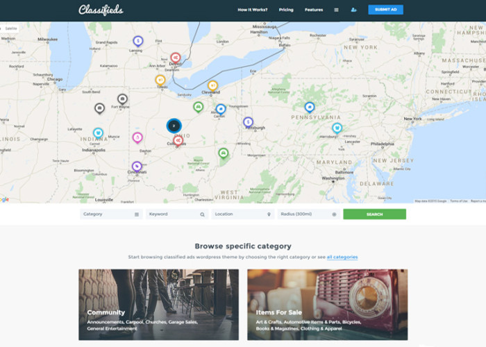 Classifieds – Premium Responsive Classified Ads WordPress Theme