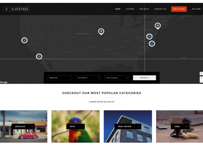 ClassyAds – Premium Responsive Modern Ads Directory WordPress Theme