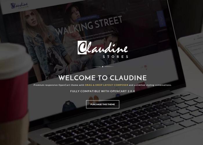 Claudine – Premium Responsive Drag & Drop OpenCart Theme
