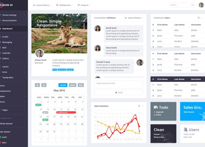 Clean UI – Premium Responsive Bootstrap 4 Admin HTML5 Template