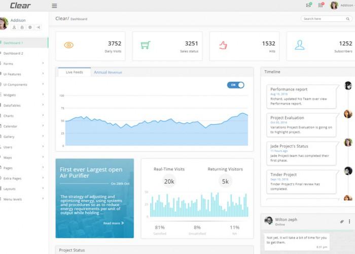 Clear – Premium Responsive VueJS Laravel Admin HTML5 Template