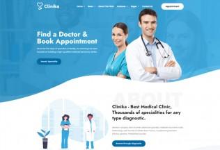 Clinika – Premium Responsive Medical Clinic WordPress Theme