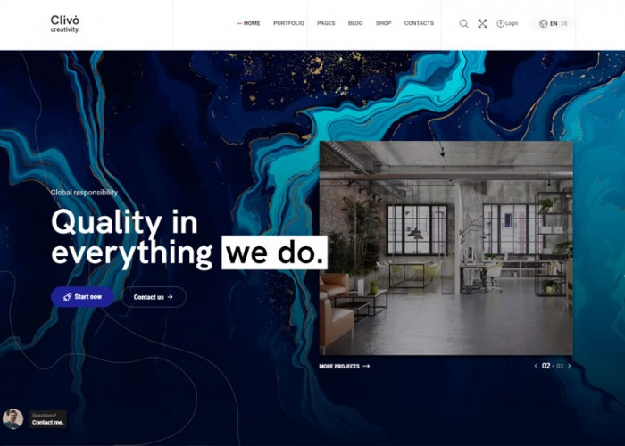 Clivo – Premium Responsive Portfolio & Agency WordPress Theme