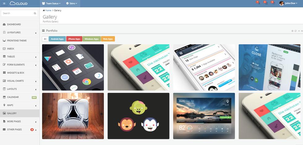 Cloud Admin - Responsive Dashboard Template - ThemeForest Free Demo