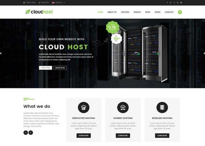 CloudHost – Responsive Hosting WordPress Theme