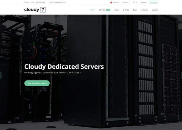 Cloudy 7 – Premium Responsive Hosting Service HTML5 Template